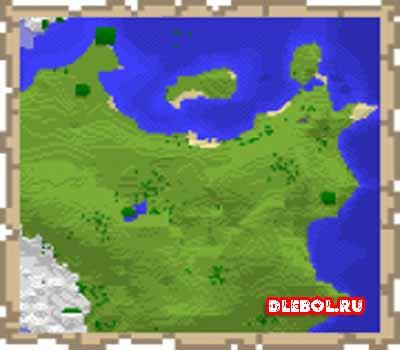 Карта в рамке