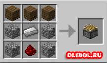Ингредиенты и крафт поршень в Minecraft