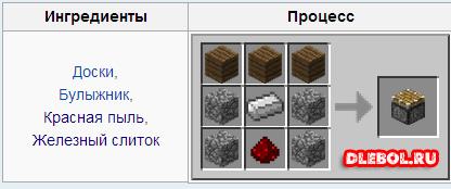 Простой поршень Minecraft