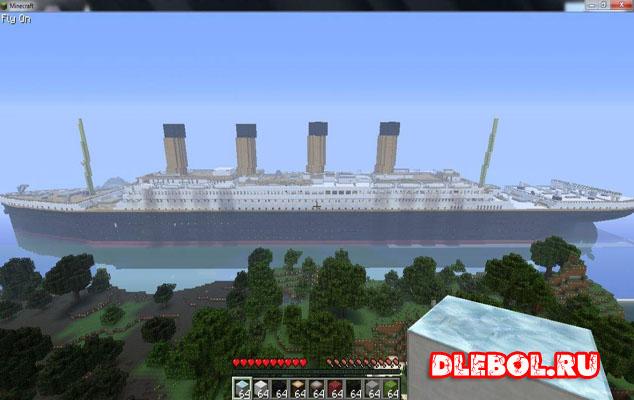 Титаник майнкрафт