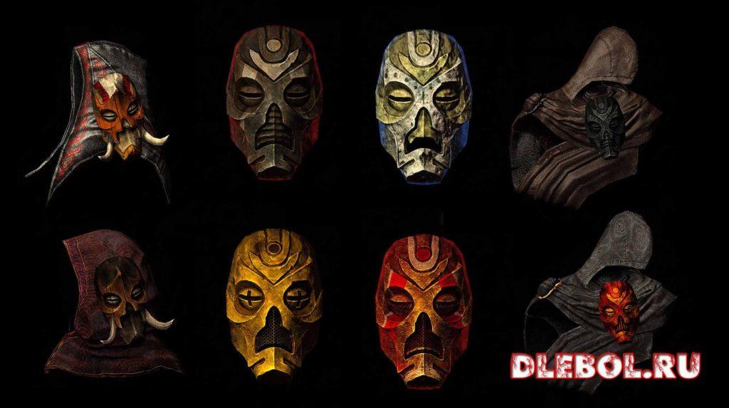 Текстуры масок драконьих жрецов